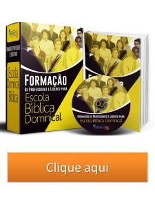 curso de formação de professores e líderes de escola bíblica dominical